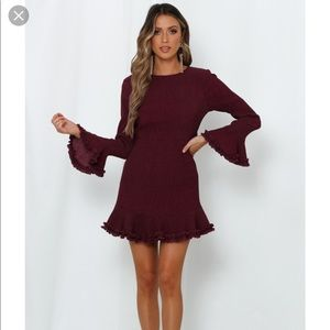 BNWT Hello Molly 'Morning in Sydney' plum dress.